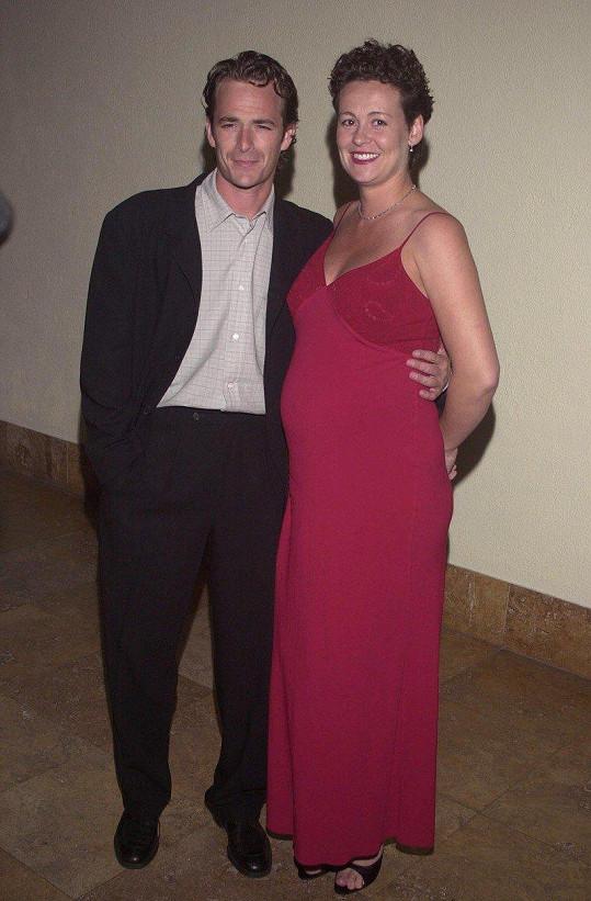 Luke Perry a Minnie Sharp spolu žili v letech 1993-2003. Mají spolu dvě děti.