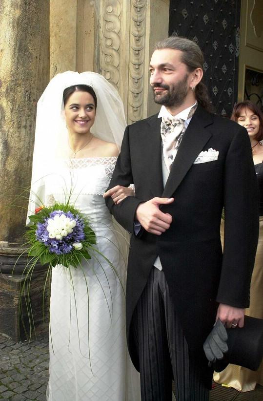 Se svou první manželkou, tanečnicí Libuškou Rohlíčkovou.