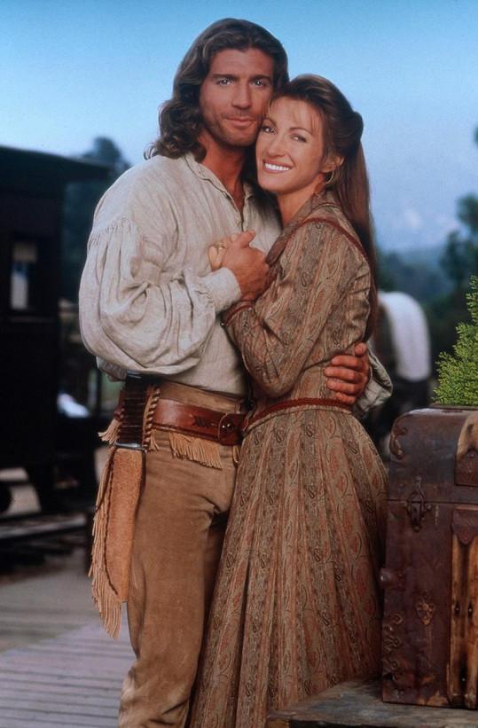 Joe Lando a Jane Seymour v seriálu Doktorka Quinnová