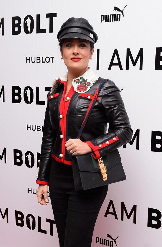 V tomto outfitu Salma moc parády nenadělala.