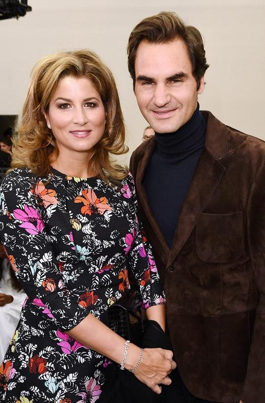 Mirka s manželem Rogerem Federerem