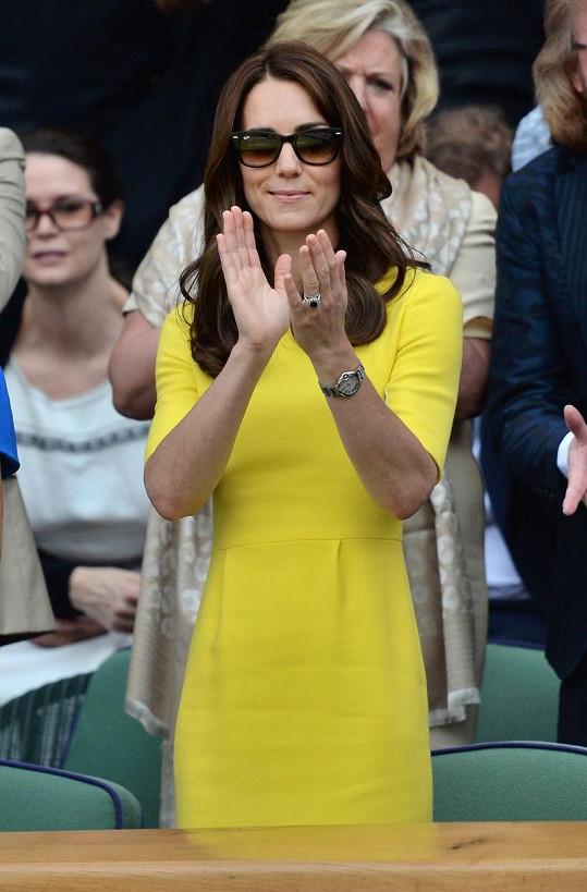 Vévodkyně je velkou fanynkou tenisu.