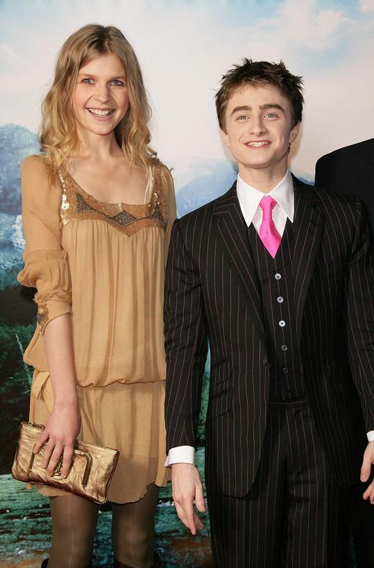 Clemence Poesy s představitelem Harryho Pottera Danielem Radcliffem