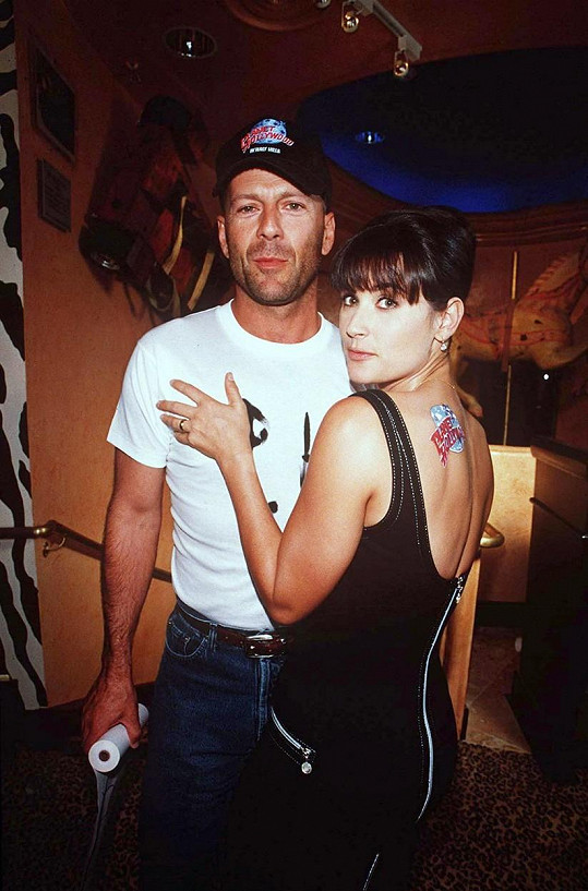 Bruce Willis s Demi Moore v roce 1995