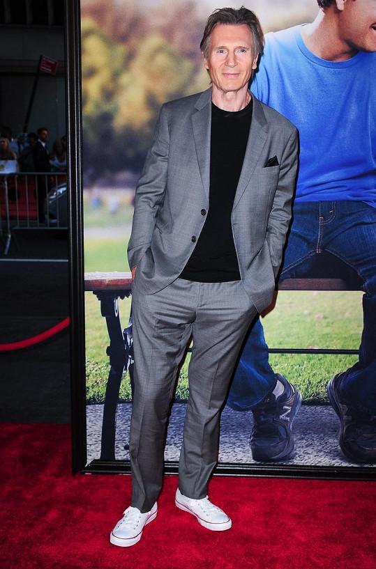 Neeson na promítání snímku Méďa 2