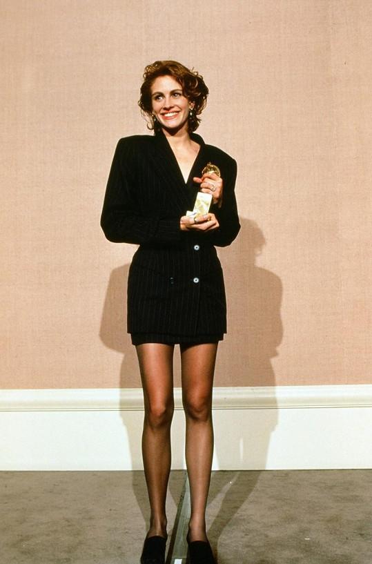 Julia Roberts v kostýmu v pánském stylu v roce 1991.