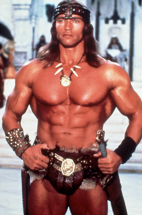 Vlasy jako jeho táta v Barbarovi Conanovi už má, teď ještě ten zbytek...