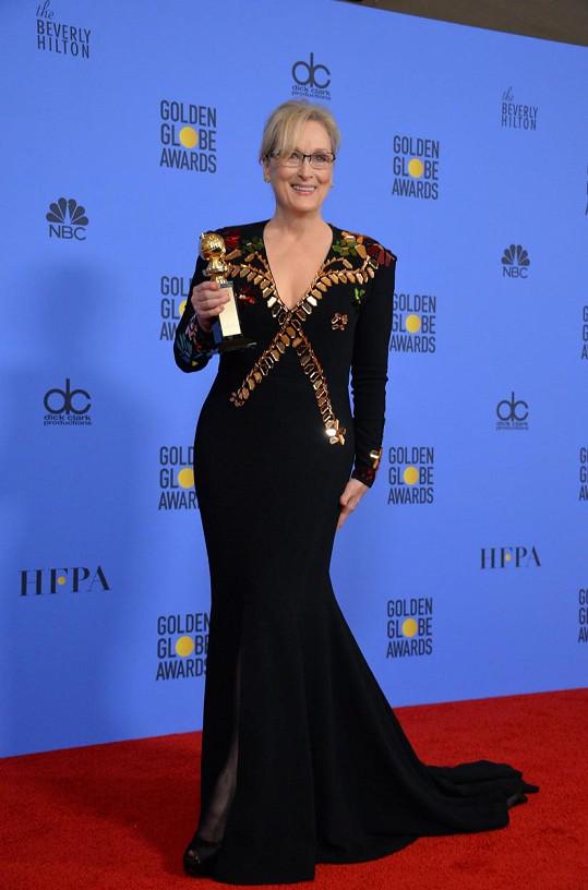 Meryl už má osm Zlatých glóbů, letos dostala cenu za celoživotní dílo.