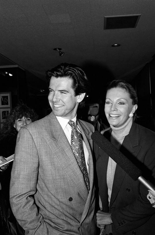 Pierce Brosnan s první manželkou Cassandrou (1988)