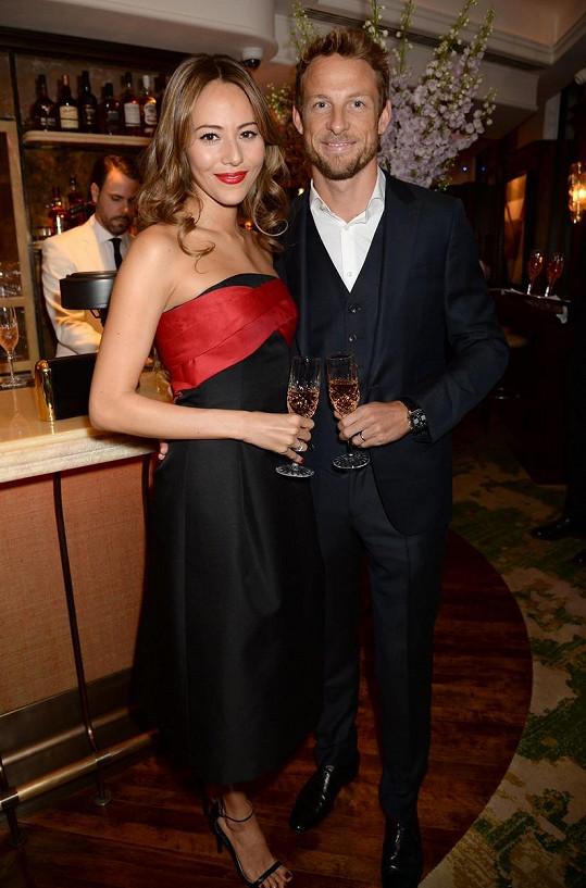 Jenson Button a Jessica Michibata