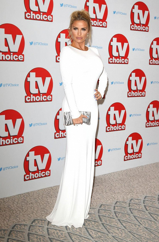 Katie Price na cenách TV Choice