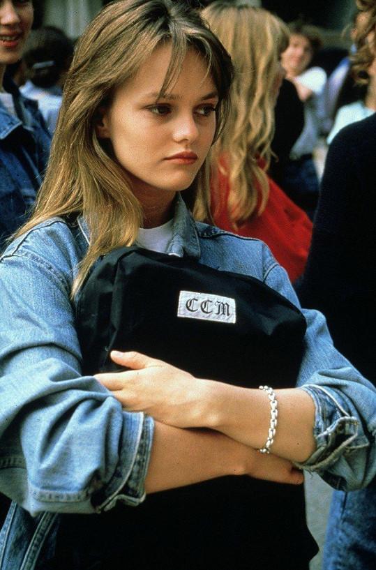 Vanessa Paradis v době, kdy jí bylo 18 let.