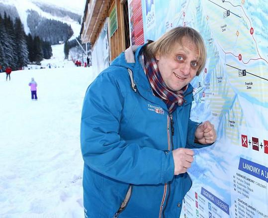 Známý komik je vášnivým lyžařem, ale o svém umění zatím jen vyprávěl.