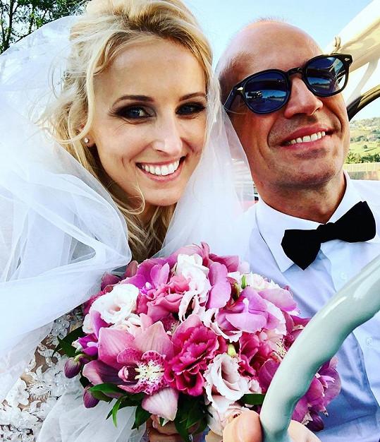 Edita Hortová s manželem Andreou.