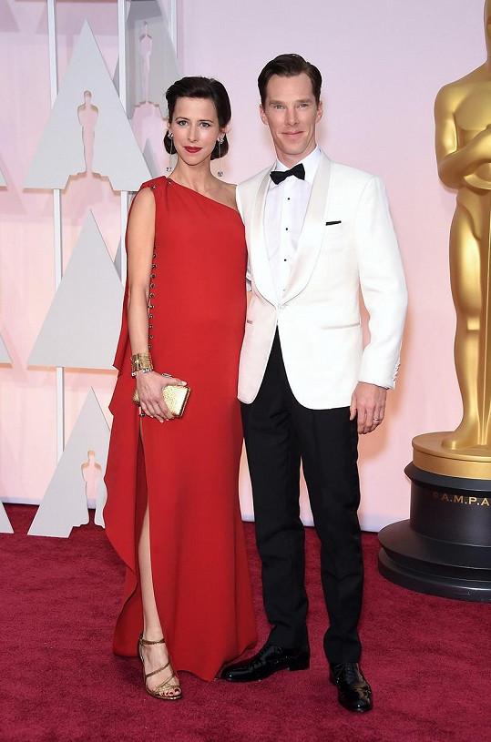 Benedict a Sophie na oscarovém ceremoniálu