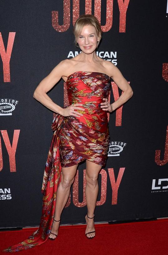 Renée Zellweger na premiéře jejího nejnovějšího snímku Judy