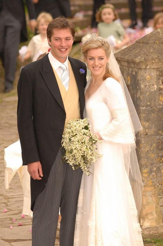 Laura Parker Bowles v roce 2006 při svatbě s Harrym Lopesem
