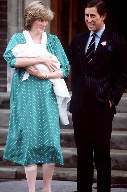 Po narození Williama před nemocnicí St. Mary v Londýně