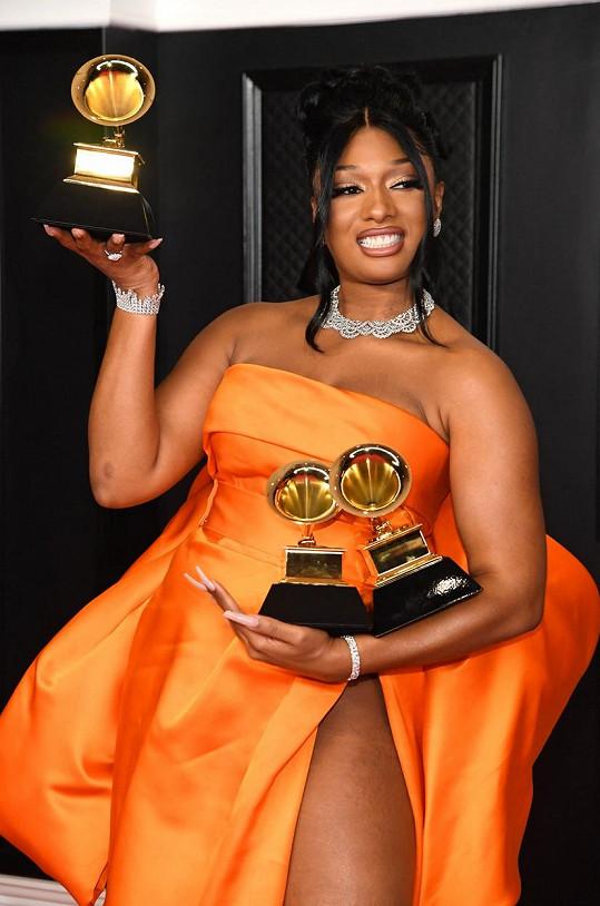 Nejen třemi cenami se mohla pochlubit rapperka Megan Thee Stallion.