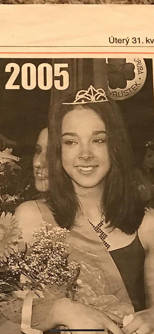 Vanda jako 2. vicemiss Dívky roku v roce 2005
