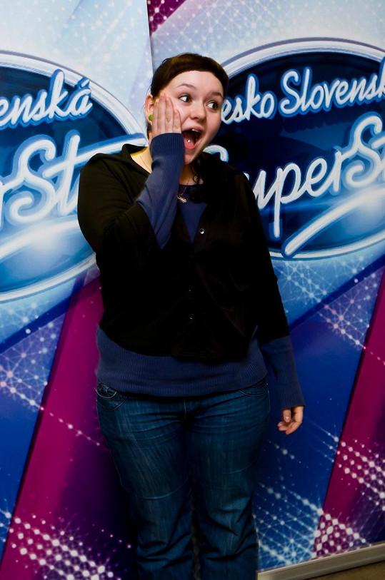 Alžběta Kolečkářová v roce 2011 v SuperStar