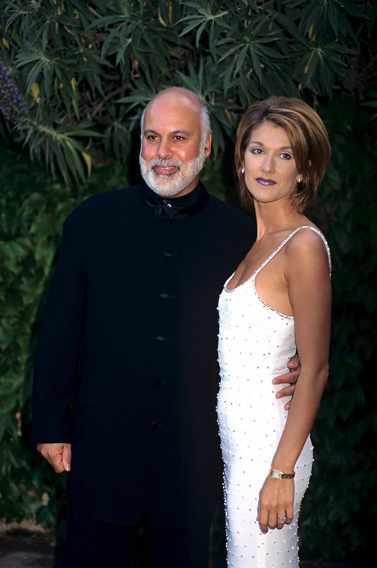 Dion s milovaným manželem Reném Angelilem, jenž v lednu 2016 zemřel na rakovinu.