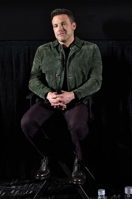 Ben Affleck promluvil o pití a rozpadu manželství.