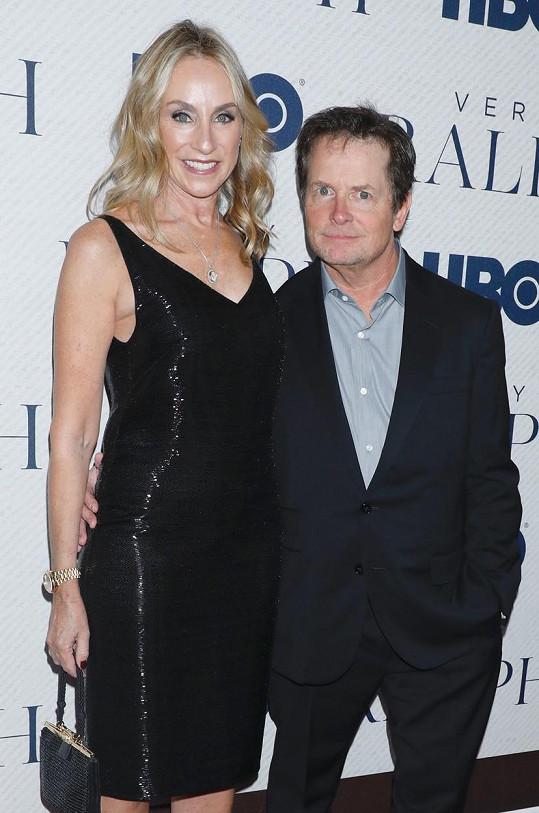 S manželkou Tracy Pollan, která je jeho velkou oporou.
