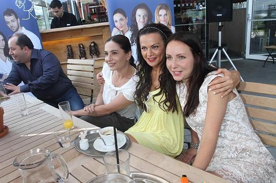 Vanda s kolegyněmi Míšou Kuklovou a Veroniku Novou