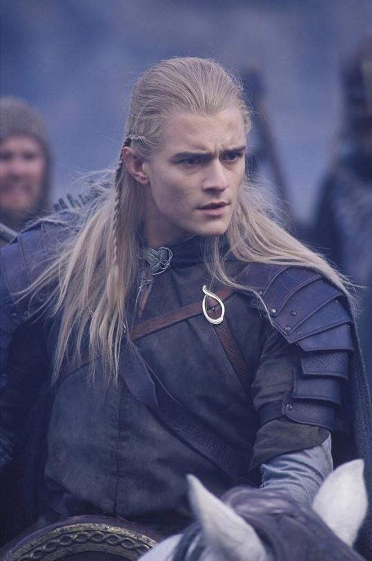 Orlando Bloom jako elf Legolas