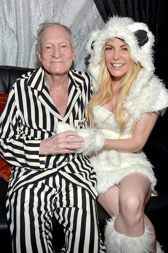 Crystal s manželem Hughem Hefnerem v roce 2015 na halloweenské party v Playboy Mansion
