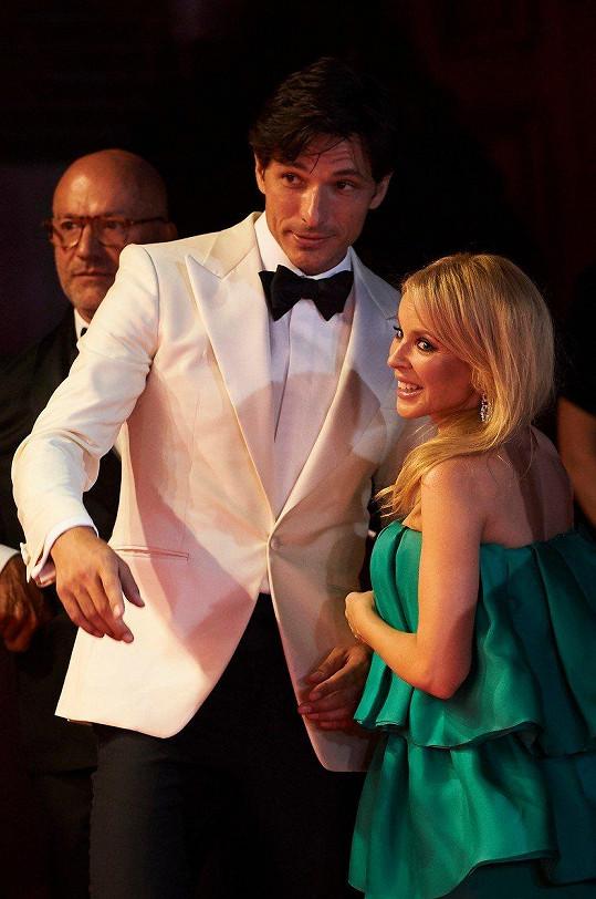 Kylie se na večírku potkala s bývalým Andrésem Velencosem.