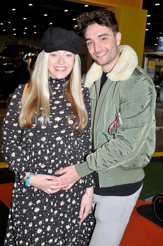 Parker s manželkou Kelsey v době, kdy čekala první dítě, dceru Aurelii. Před pár týdny porodila syna Bodhiho.
