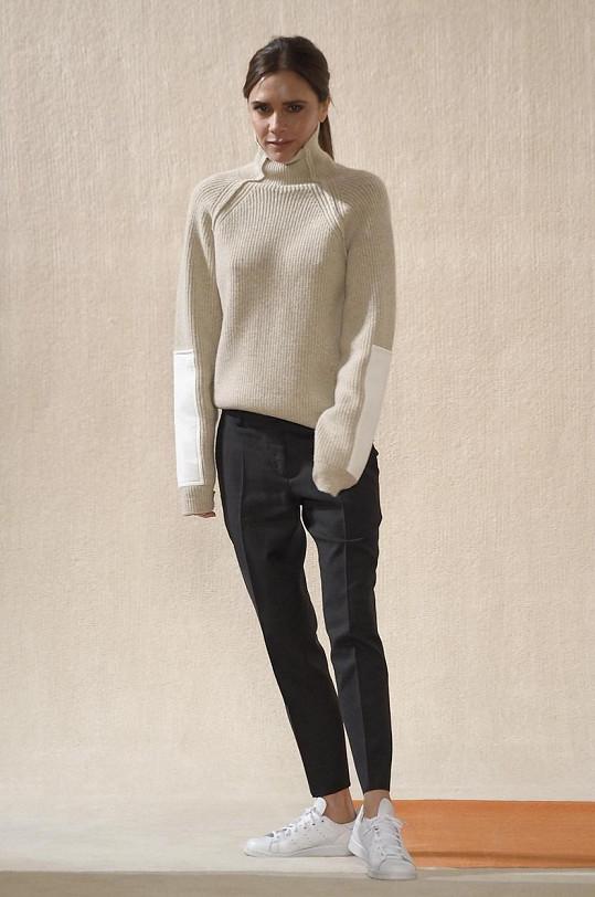 Victoria Beckham v New Yorku, kde na fashion weeku prezentuje další kolekci své značky.