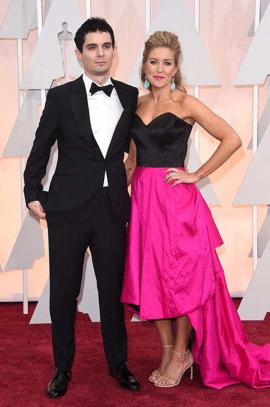 Před dvěma lety mu na Oscarech dělala společnost manželka Jasmine McGlade.