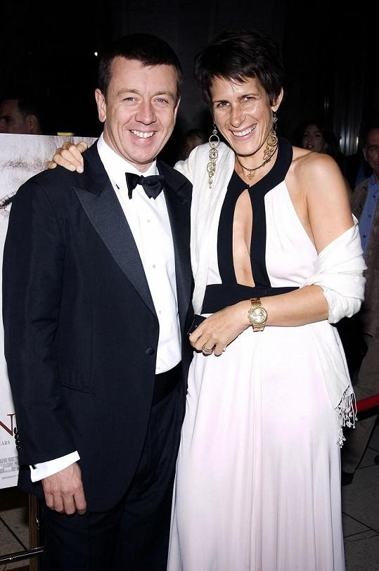 Peter Morgan s manželkou na premiéře filmu Královna v roce 2006