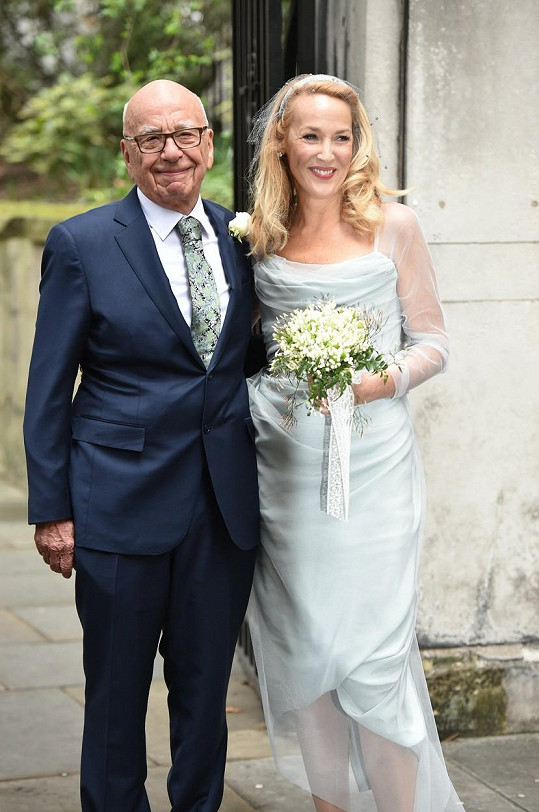 Jerry Hall a Rupert Murdoch