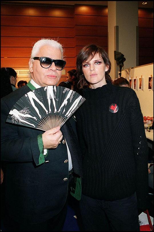 Stella Tennant byla jednou z múz Karla Lagerfelda.