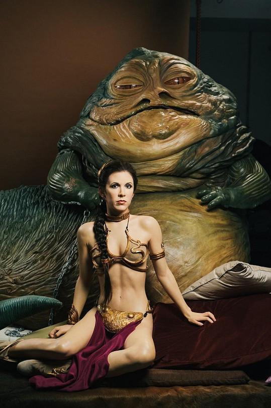 Herečka jako princezna Leia