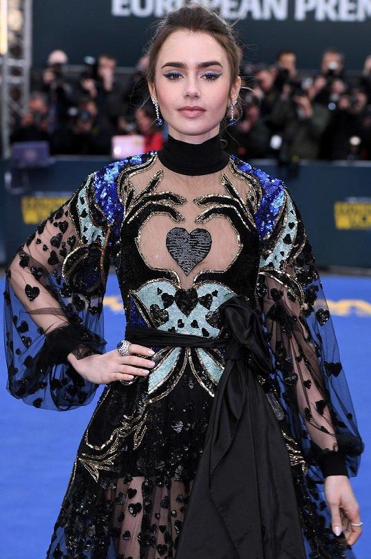 Lily Collins hubla kvůli roli anorektičky.