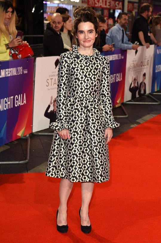 Shirley Henderson na premiéře filmu Stan & Ollie