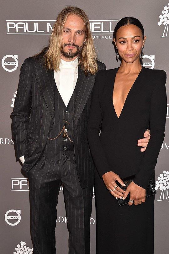 Zoe Saldana se svým manželem