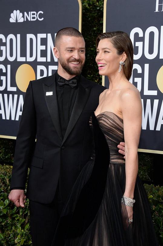Justin Timberlake se současnou partnerkou Jessicou Biel