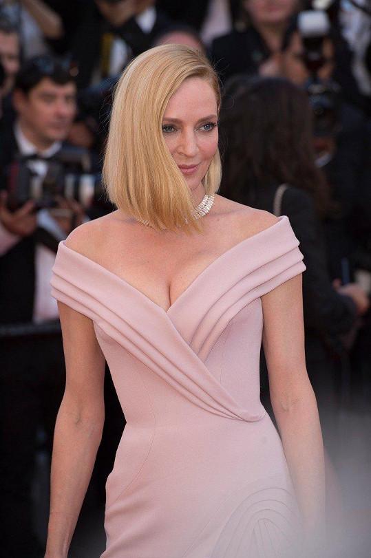 Uma na zahajovacím ceremoniálu filmového festivalu v Cannes (květen 2017)