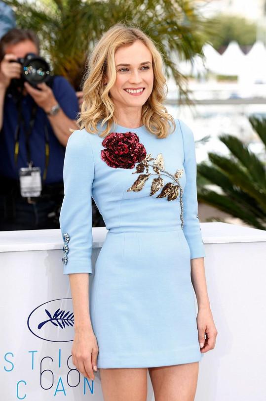 Diane Kruger to v Cannes moc slušelo.