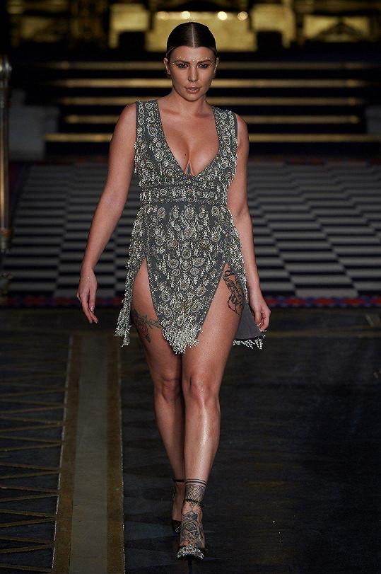Model, který Olivia na akci předváděla, byl nejen hezký...