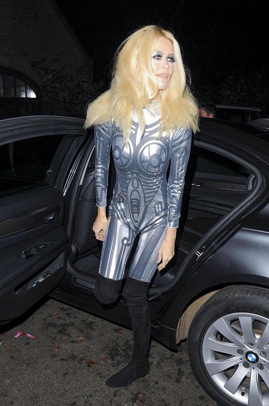 Claudia Schiffer v Londýně