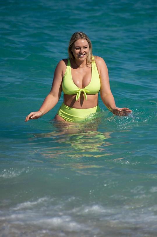 Relaxovala na pláži v Miami.