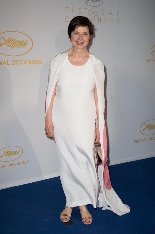 Isabella Rossellini na festivalu v Cannes.