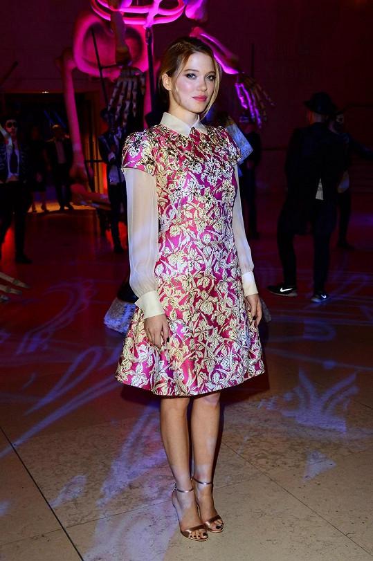 Léa Seydoux na after párty k bondovce s pořadovým číslem 24